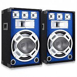 Skytronic Skytec pár 38 cm PA reproduktorov, svetelný efekt, modrý, 2 x 800 W reproduktory