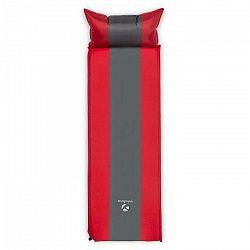 Yukatana Goodsleep 5, izolačná podložka, nafukovací matrac, 5 cm hrubá, samonafúkanie, červeno-sivá